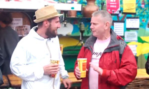 Glastonbury 2013: father and son reunited