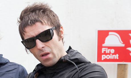 Liam Gallagher: 'I'll put in a big dry cleaning bill for this.'