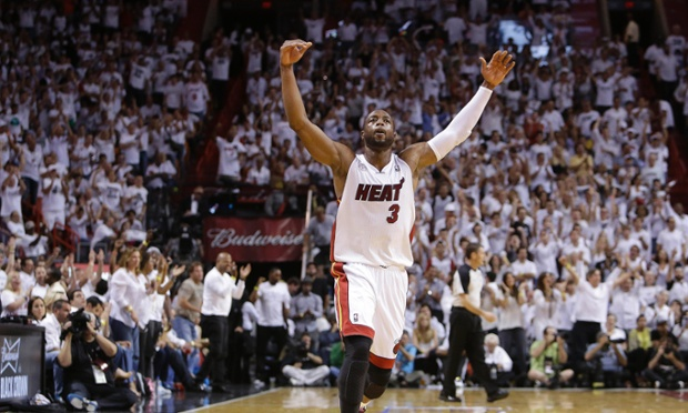 The Miami Heat's Dwyane Wade had 21 points and 9 rebounds in their Game 7 win over the Indiana Pacers in the Eastern Conference Finals, a big reason that his team is headed to their third straight NBA Finals. AP Photo/Lynne Sladky.
