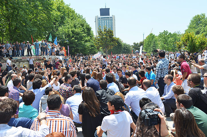 Turkey protests day five: People in Gezi park