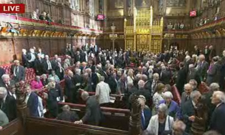 Peers voting on gay marriage