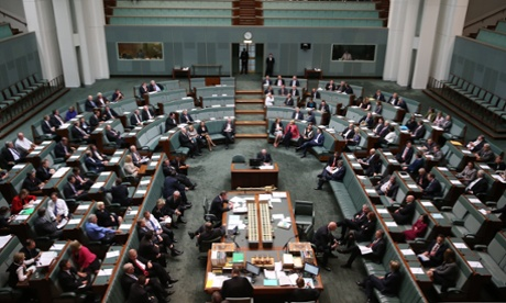 Division in the House of Representatives this morning while debating amendments to to Australian education reform bills. The Global Mail.