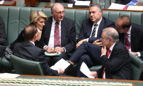 Deep in the war game. The Coalition frontbench. The Global Mail.