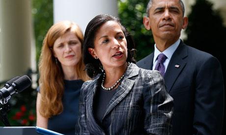 Barack Obama, Susan Rice, Samantha Power