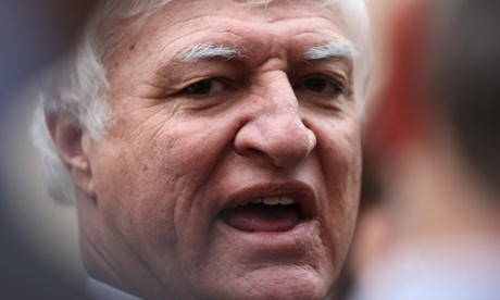 The Member for Kennedy Bob Katter during. A press conference this afternoon. The Global Mail.