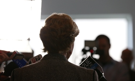 Greens Leader Christine Milne at a press conference in Parliament House Canberra morning. The Global Mail.