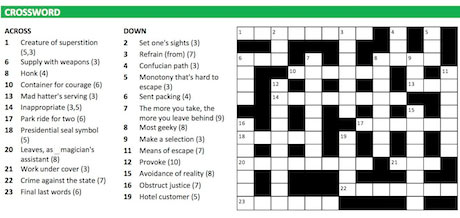 The grid from Crosswords.