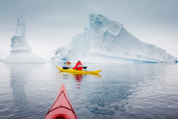 This looks tranquil: a sea-kayaking expedition in Paradise Harbour, Antarctic Peninsula.