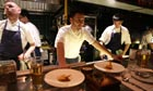 Jason Atherton during dinner service at his Esquina restaurant in Singapore