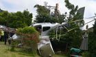 Plane crashes in Cheltenham back garden