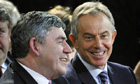 Former Labour prime ministers Gordon Brown (left) and Tony Blair