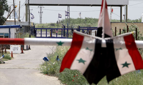The Quneitra border crossing between Syria and the Israeli annexed Golan Heights