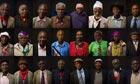 Mau Mau veterans at the Hilton hotel in Nairobi, Kenya, during a British High Commission press brief