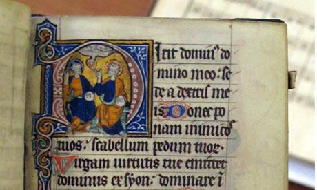 14th century Book of Hours, Downside Abbey monastic library