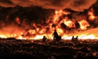 A fire at a recycling factory in in Smethwick, Birmingham