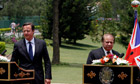 David Cameron meets Nawaz Sharif in Islamabad