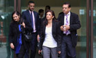 Anni Dewani's family leave court after attending the extradition hearing of Shrien Dewani