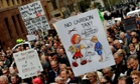 A protester holds a placard during a rally in Sydney against Julia Gillard's 'carbon tax'.