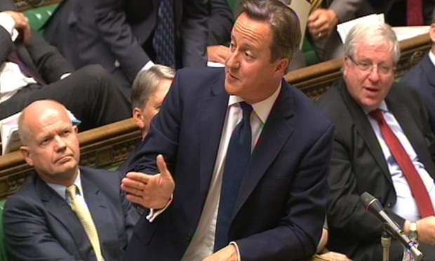 David Cameron speaks at PMQs today.