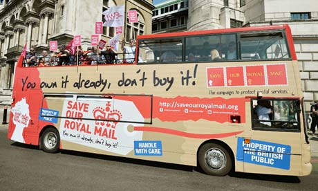 CW union protest against Royal Mail privatisation