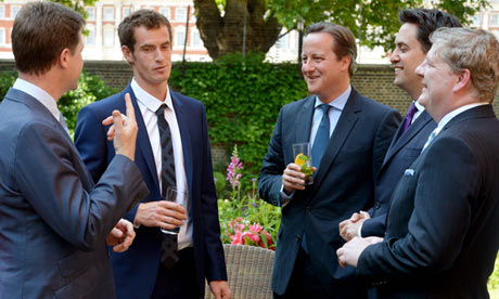 Andy Murray with Cameron and co