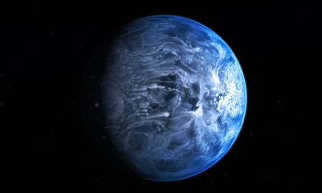 An artist's impression of the blue planet, which is a gas giant. The same technique could be used to identify habitable worlds. Image: Nasa