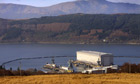 Faslane submarine base on the Clyde in Scotland