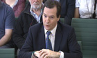 George Osborne answering questions from the Treasury select committee