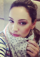 A 'selfie' by Kelly Brook.