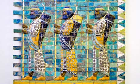 Detail from Babylon's Ishtar Gate, now at the Pergamon Museum in Berlin