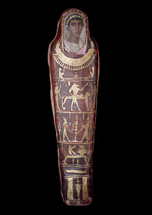 Mummy case and portrait of Artemidorus