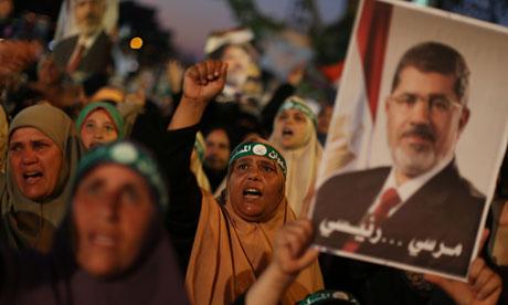 Supporters of the Mohamed Mursi