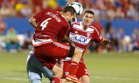 FC Dallas midfielder Andrew Jacobson in action