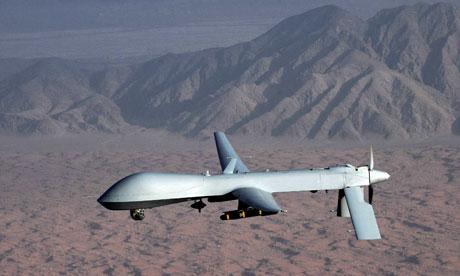matrix drone in flight