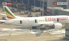 Fire on the Ethiopian Airlines plane at Heathrow