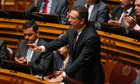 Portuguese Socialist party leader Jose Antonio Seguro speaks in parliament