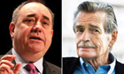 Alex Salmond and William McIlvanney