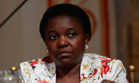 Cécile Kyenge, who has faced repeated racial slurs since becoming minister for integration in April. Photograph: Tiziano Brodolini/Barcroft Med