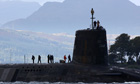 Submarine carrying Trident missiles, Faslane