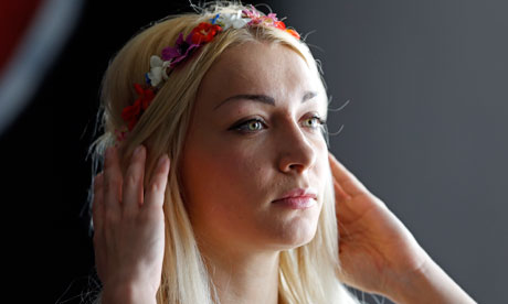 Inna Shevchenko, a member of the women's rights group Femen. Photograph: Charles Platiau/Reuters