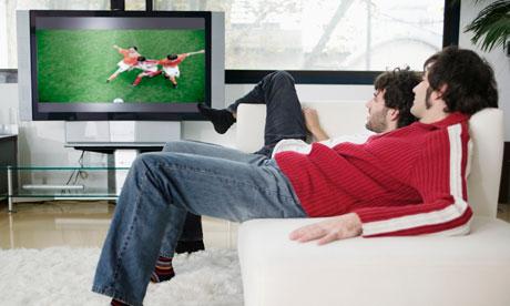 social - friends watching TV