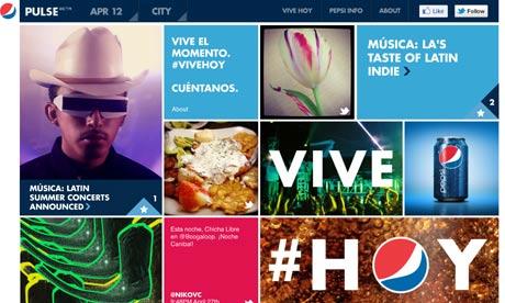 Pepsi's social, content-driven marketing campaign –Pulse.