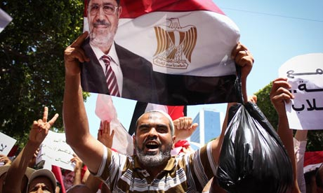 Morsi supporter in Tunis