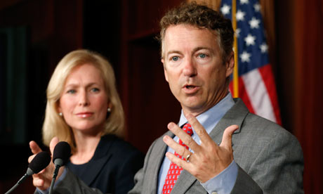 Rand Paul with Kirsten Gillibrand