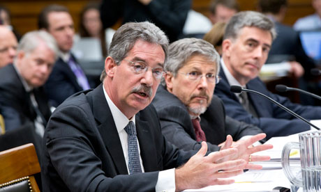 Deputy attorney general James Cole, Robert S Litt, general counsel in the Office of Director of National Intelligence, NSA deputy director John Ingliss. Photograph: J Scott Applewhite/AP