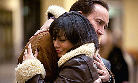 Nicolas Cage and Vanessa Hudgens in The Frozen Ground