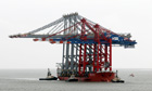 Giant cranes arrive at UK super-port