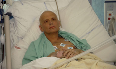 Alexander Litvinenko in a London hospital in 2006