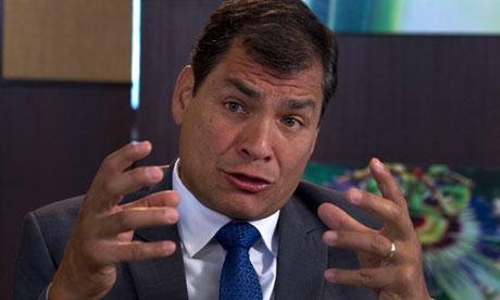 Rafael Correa Ecuador president Edward Snowden