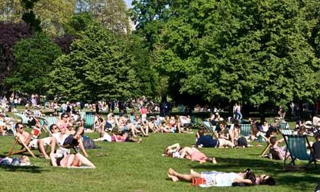 Sunbathing St James Park